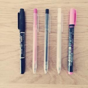 【断捨離】残った5本のペンを愛用中。