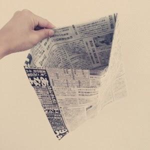 【節約&エコ】新聞紙で作るゴミ袋でレジ袋削減。
