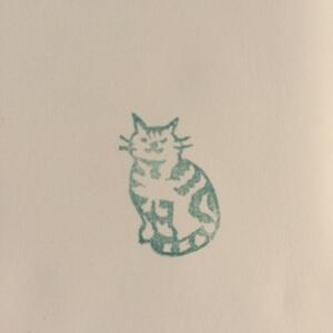 消しゴムハンコ 猫