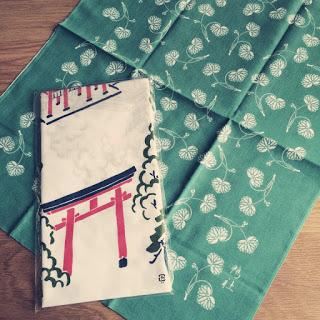 【京都・下鴨神社】双葉葵柄の手ぬぐい&お守りが可愛い。