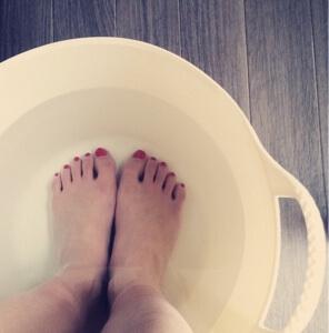 【夏の冷えに】足湯、夏もやっています。