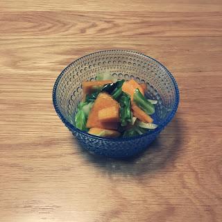 【シンプルレシピ】柿とキャベツのサラダを作ってみた。