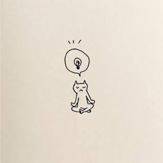 猫 瞑想 イラスト