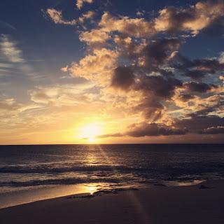 夕日 瞑想