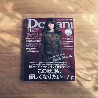 「優しくなれる夜時間」Domani11月号に掲載されました。
