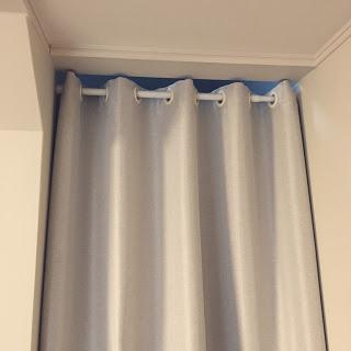 リビング階段寒さ対策 カーテン